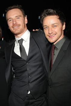 James McAvoy + Michael Fassbender
