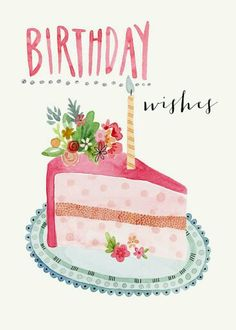 slice-of-cake happy birthday Happy Birthday Quotes, Happy Birthday Images, Happy Birthday Greetings, Birthday Pictures, Happy Birthday Messages, Birthday Posts, Birthday Love, It's Your Birthday, Cake Birthday