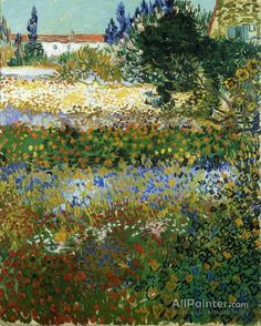 Vincent Van Gogh Garden With Flowers oil painting reproductions for sale