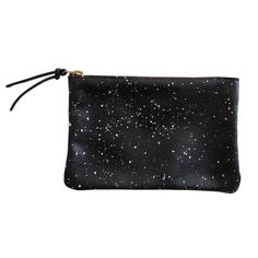 Wallet Pouch Black White Galaxy