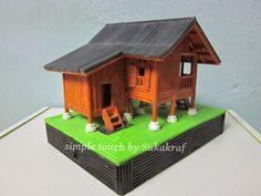 mini traditional malay house