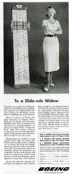 Slide-rule widow!
