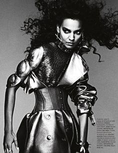 La Guerrière | Liya Kebede | Ben Hassett #photography |  Numéro France 138 November 2012