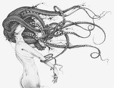 Sketch by Lucas Werneck Art Pinterest Mermaid Octopus