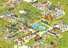Theme Park Map Design