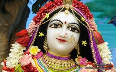To view Radha Close Up Wallpaper of ISKCON Chowpatty in difference sizes visit - http://harekrishnawallpapers.com/srimati-radharani-close-up-wallpaper-103/