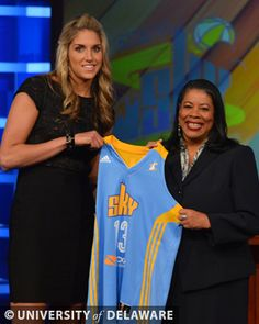 Congratulations to Elena Delle Donne who was selected as the No. 2 pick in the WNBA Draft by the Chicago Sky!