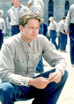 Tim Robbins in The Shawshank Redemption, 1994. Via http://hollywoodlady.tumblr.com/