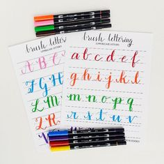 The Beginner's Guide to Brush Lettering (Plus FREE Letter Tracing Worksheet for Practice)