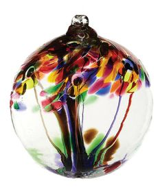Take a look at this Purple 2'' Kitras Tree of Celebration Ornament by Kitras Art Glass on #zulily today!