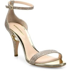 Nicholas Kirkwood Penelope Pearly Metallic Ankle-Strap Sandals ($795) ❤ liked on Polyvore featuring shoes, sandals, apparel & accessories, white pearl sandals, pearl sandals, cushioned shoes, ankle tie sandals and monk-strap shoes