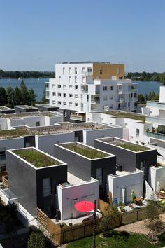 Les #maisons de l'îlot Galilée - #Ginko à #Bordeaux © Marc de Tienda