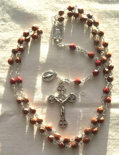 umber with vitral finish; Rosaries, Crucifix, Saints, Prayers, It Is Finished, Diy, Jewelry, Necklaces, Bangle Bracelets