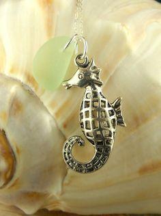 Genuine Sea Glass Jewelry Sea Foam And by BoardwalkBaubles on Etsy, $21.00