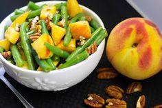 Carrie's Experimental Kitchen: Green Bean & Peach Salad in a Maple Pecan Vinaigrette
