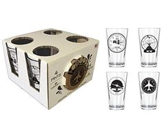 Aviation Pint Pack with Cork Coasters