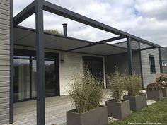 Pergola autoportante / en aluminium / couverture coulissante en toile / sur mesure - IDÉEÀ TERRASSE® : ID2 SUN - Abritez-vous chez nous