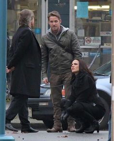 Awesome Lana Sean Robert (Regina Robin Mr Gold/Rumple) #Once #BTS the awesome Once S5 E12 #SoulsoftheDeparted #StevestonVillage #Richmond #Vancouver BC Wednesday 11-4-15 airs 3-2016