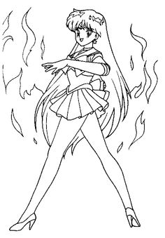 Sailor Moon With Full Of Love Coloring Pages | ☆ Sailor Moon ...