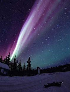 the Northern Lights in Yellowknife, Canada