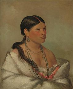 Native Women Painting - The Female Eagle by George Catlin kp