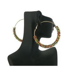 Basketball Wives POParazzi Inspired Stone Rings Earring Gold/Multi