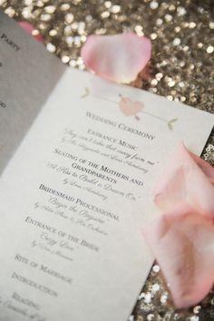 Sweet printed ceremony programs | Jillian Joseph Photography