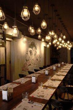 Image result for industrial lights restaurant