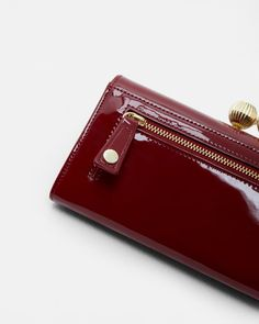Etched bobble leather matinee purse - Oxblood | Purses | Ireland Site