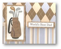 HAND MADE FATHERS DAY CARD IDEAS IMAGES | golf theme father s day card handmade card by d luxe designs
