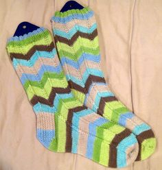 Yet another pair of Jaywalker socks knit with Knit Picks' Felici yarn.