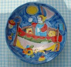 """Schaal """"Ciotola"""" 30 cm  """"Pescatore""""  Webshop Sicilian Ceramica  www.russoenzo.nl"""