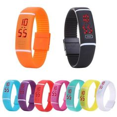 Best Bracelet 2017/ 2018  : New LED Watches Women dress Fashion Digital WristWatches Men Sport Silicone Brac
