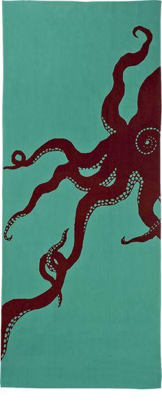 Tenuqui (japanese hand towels) by Mitsuko Ogura #Octopus