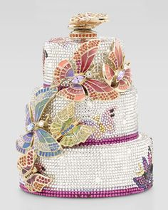 Judith Leiber Butterfly Cake Minaudiere. Ridiculously cute, but with a price tag of $6995 I'm going to have to just admire :)