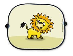 Cheerful sun shades for cars -  with a cute lion - design by kate (www.katelein.com)