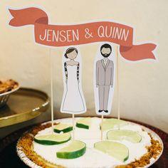 Love this cake topper! Whimsical vintage-inspired wedding on @offbeatbride