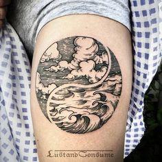 Auto-croquis do oceano braço de tatuagem http://tatuagens247.blogspot.com/2016/08/verao-quente-tatuagem-ideias.html
