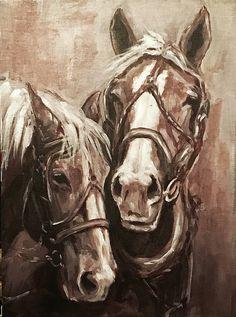 Joan Frimberger's acrylic paintings bring animals to life on canvas Big Horses, Work Horses, Beautiful Horse Pictures, Beautiful Horses, Animal Paintings, Horse Paintings, Art Basics, Horse Posters, Watercolor Horse