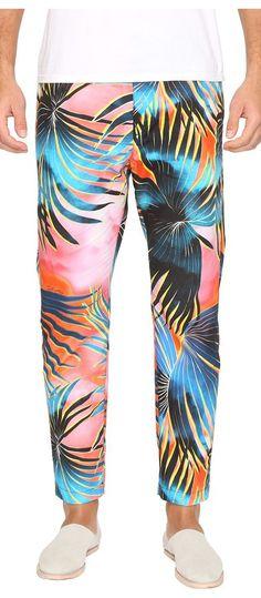 Just Cavalli Tie-Dye Palm Print Pants (Multicolor) Men's Casual Pants - Just Cavalli, Tie-Dye Palm Print Pants, S03KA0123-N38721-256S, Apparel Bottom Casual Pants, Casual Pants, Bottom, Apparel, Clothes Clothing, Gift, - Fashion Ideas To Inspire