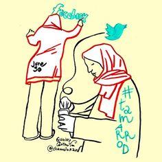 Tamarrod Women #egypt #tamarrod #30june Download high resolution http://www.politicalcomics.info/tamarrod-30june