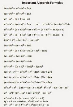 SSC Adda: Algebraic Formulas Part -1