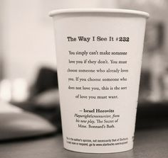 Starbucks cups know what they're talking about.