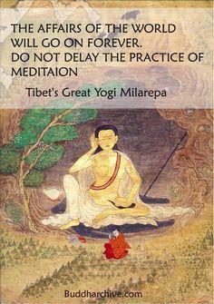 Milerapa Quote on meditation, Buddhist quote, Buddhism Quote, Meditation quote
