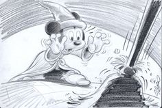Garrido, Sergio - Original Sketch #2 - Mickey Mouse - The Sorcerer's Apprentice - W.B.
