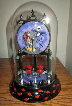 RARE Nightmare Before Christmas porcelain pendulum anniversary mantle clock