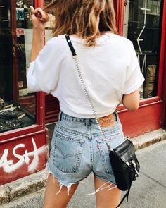 c5064463 ☾pinterest ; emingrid Denim Cutoff Shorts, Levi Shorts, Streetwear Fashion,  Latest