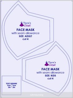 Sewing your own face mask to protect yourself from the coronavirus pandemic (wit. Sewing your own face mask to protect yourself from the coronavirus pandemic (with pattern and photo Easy Face Masks, Diy Face Mask, Homemade Face Masks, Sewing Patterns Free, Free Pattern, Easy Knitting Projects, Small Sewing Projects, Mask Template, Pocket Pattern