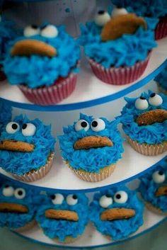 Cookie Monster Cupkakes