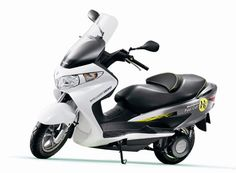 Hydrogen fuel-cell electric Burgman maxi-scooter by Suzuki, http://www.globalsuzuki.com/Burgman_Fuel-Cell_Scooter/